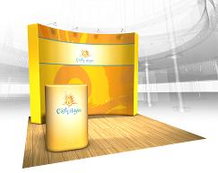 VBurst Fabric Popup Trade Show Displays